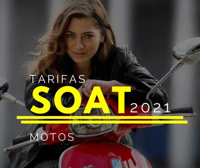 DESCUENTOS TARIFAS PRECIOS SOAT MOTOS 2021