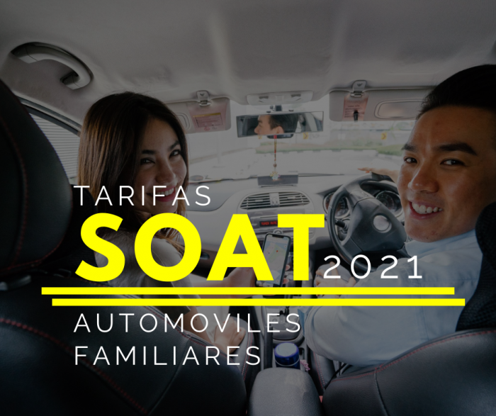 SOAT AUTOMOVILES FAMILIARES 2021 DESCUENTO