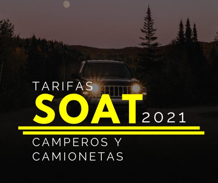SOAT CAMPEROS Y CAMIONETAS 2021 CON DESCUENTO