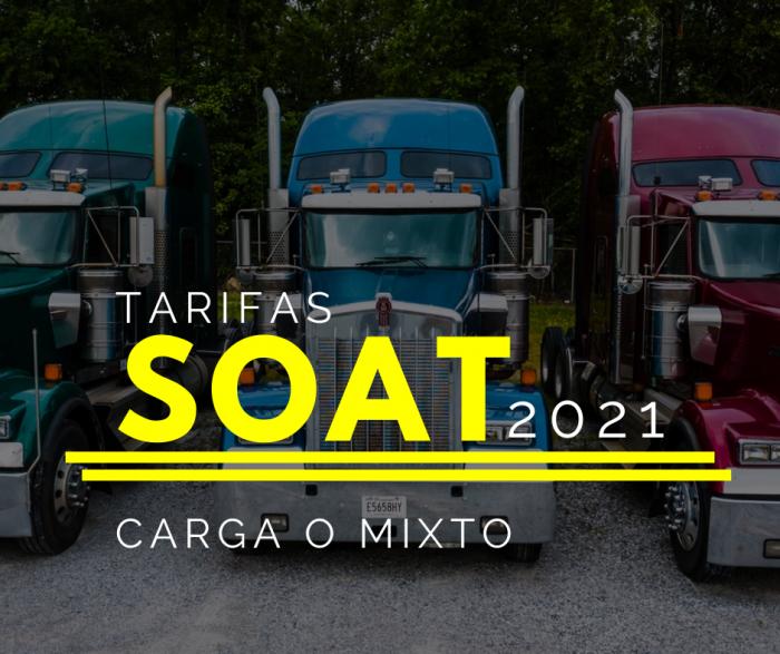 SOAT CARGA O MIXTO 2021 CON DESCUENTO